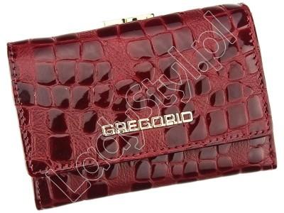 Portfel Gregorio FS-117 - Kolor ciemny czerwony