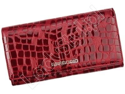 Portfel Gregorio FS-114 - Kolor ciemny czerwony