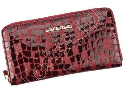 Portfel Gregorio FS-118 - Kolor ciemny czerwony