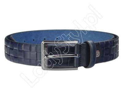 Pasek Pierre Cardin AUT 8006 - Kolor niebieski