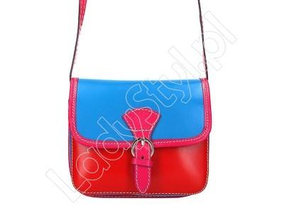 Torebka Gregorio 112 - Kolor niebieski + czerwony