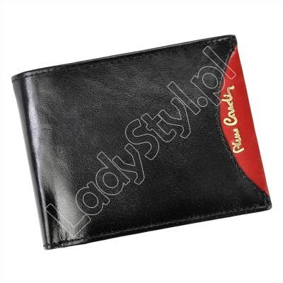Portfel Pierre Cardin TILAK29 8806 - Kolor czarny + czerwony