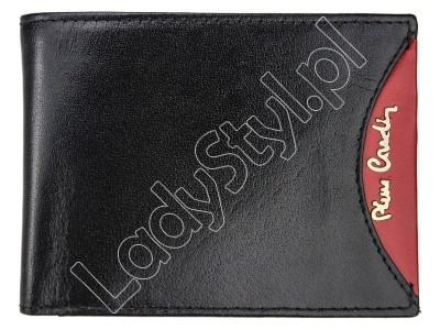 Portfel Pierre Cardin TILAK29 8805 RFID - Kolor czarny + czerwony