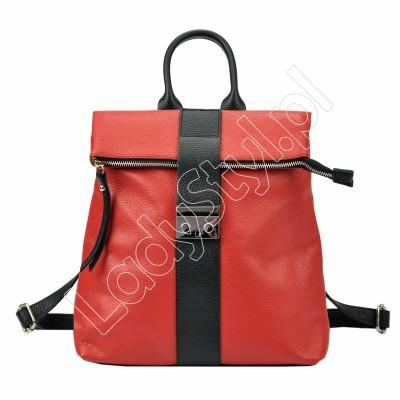 Plecak Patrizia Piu 518-008-02 - Kolor czerwony