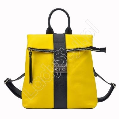 Plecak Patrizia Piu 518-008-02 - Kolor żółty