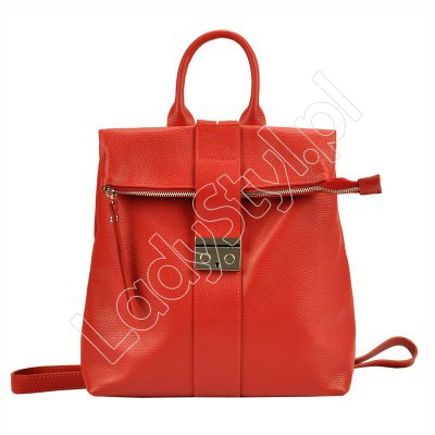 Plecak Patrizia Piu 518-008-01 - Kolor czerwony