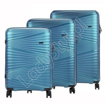 Walizka Pierre Cardin ITP01 TZ858 x3 Z - Kolor niebieski