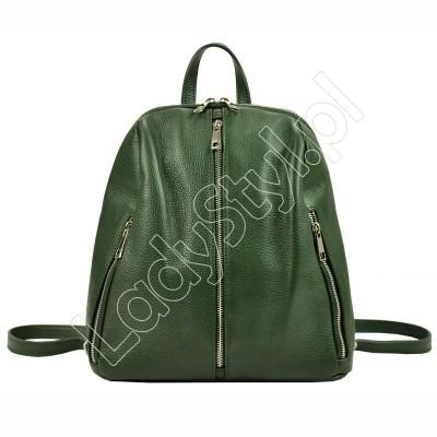 Plecak Patrizia Piu 518-011 - Kolor ciemny zielony