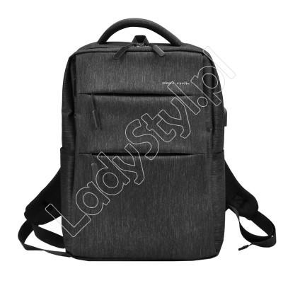 Plecak Pierre Cardin 331735 ALAN02 LAPTOP - Kolor czarny