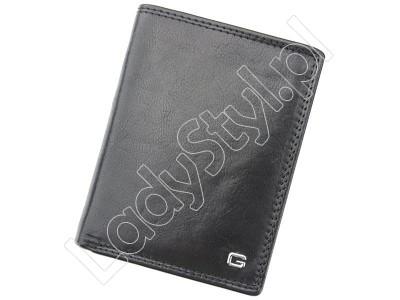 Portfel Gregorio N4-CV RFID - Kolor czarny