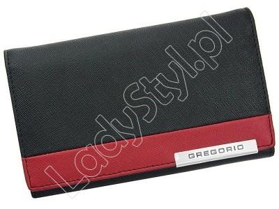 Portfel Gregorio FRZ-112 - Kolor czarny + czerwony