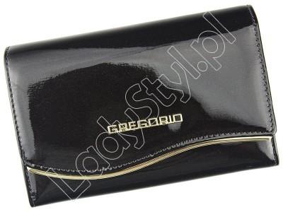Portfel Gregorio ZLF-112 - Kolor ciemny brąz