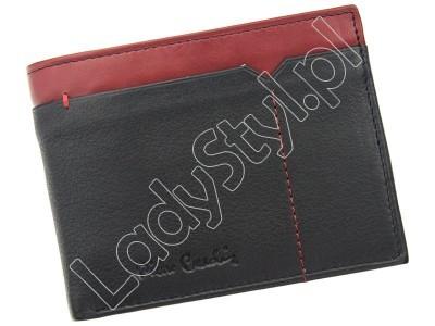 Portfel Pierre Cardin SAHARA TILAK14 8806 - Kolor czarny + czerwony